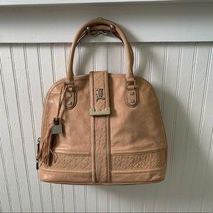 L.A.M.B. Beige Bowler Handbag